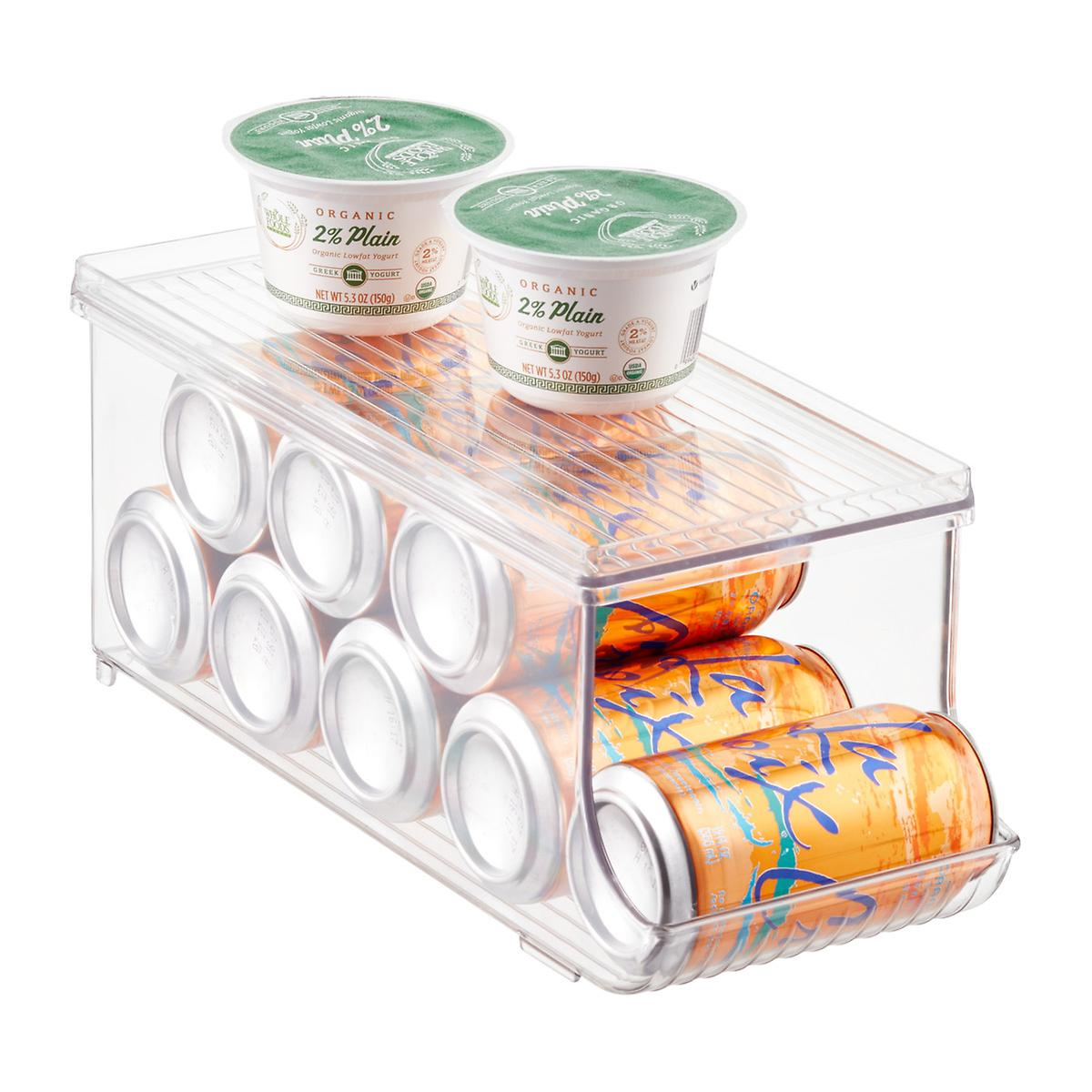 InterDesign Linus Fridge Binz Soda Can Organizer with Shelf The