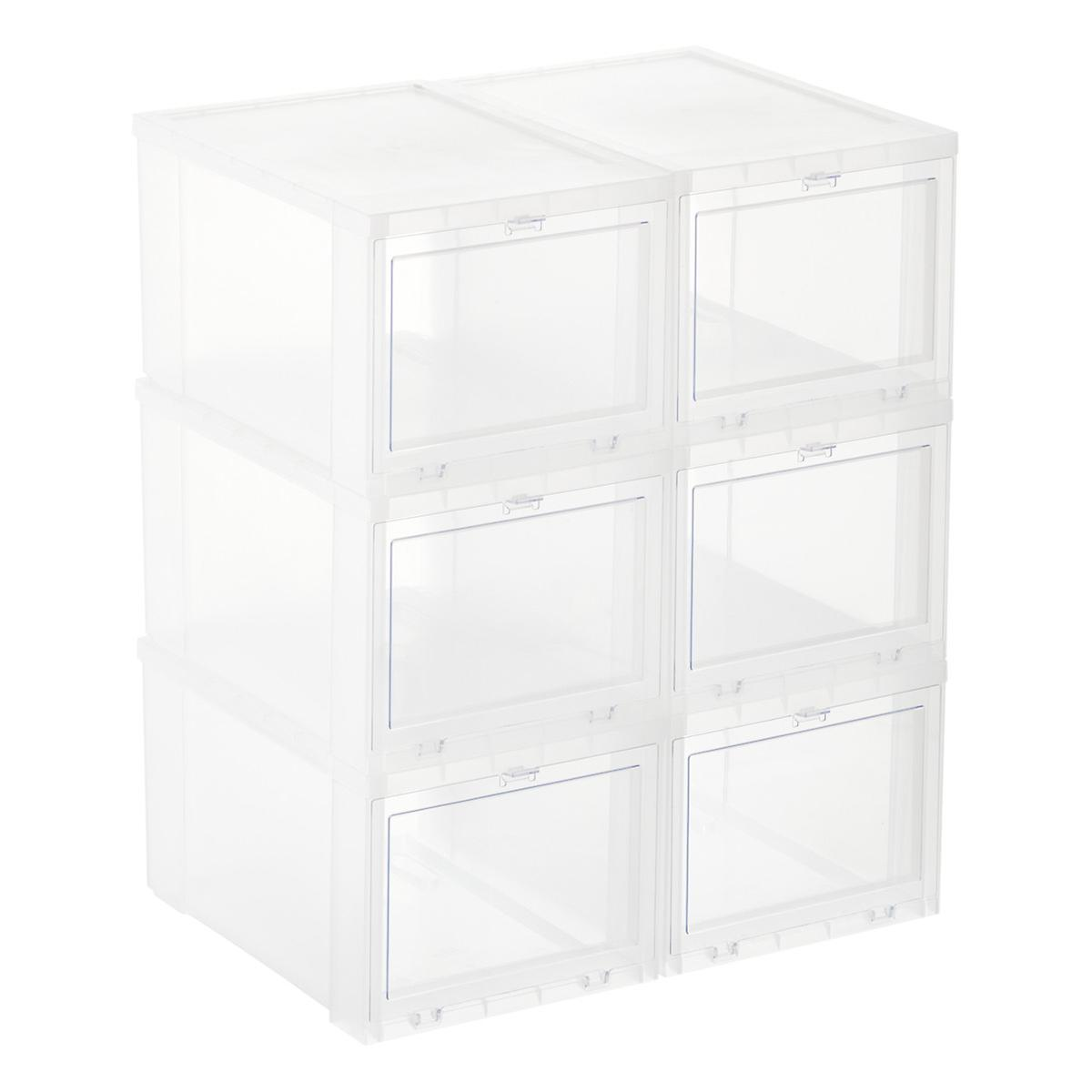 Drop Front Shoe Boxes Sneaker Storage Boxes The