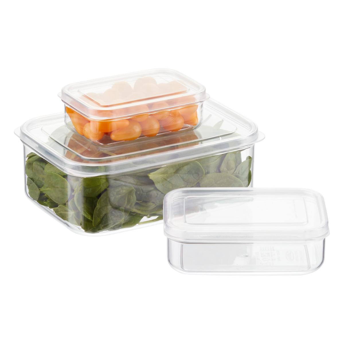 Crystal Clear Rectangular Food Storage ...
