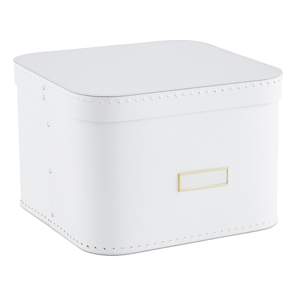 Bon White Oskar Storage Box With Lid