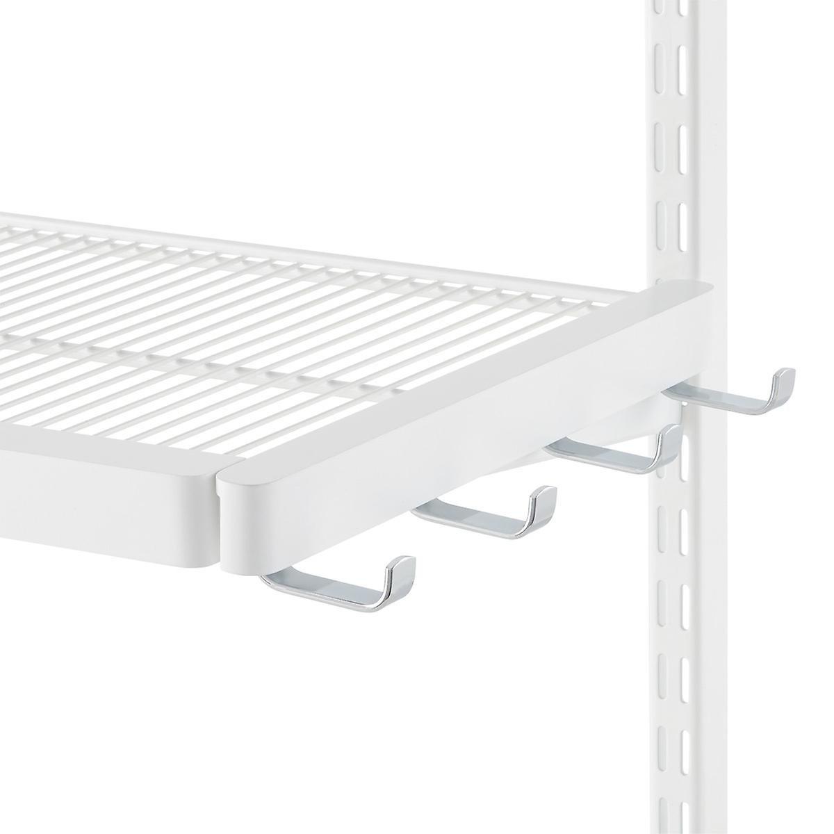 white elfa décor bracket hooks the container store