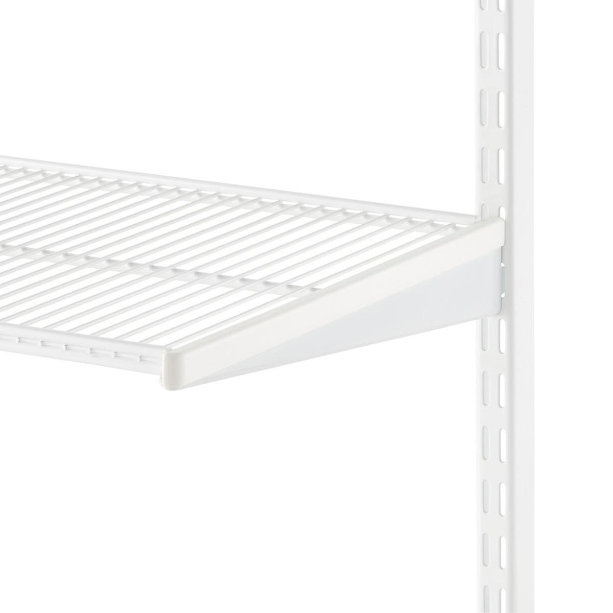 White elfa Bracket Covers | The Container Store