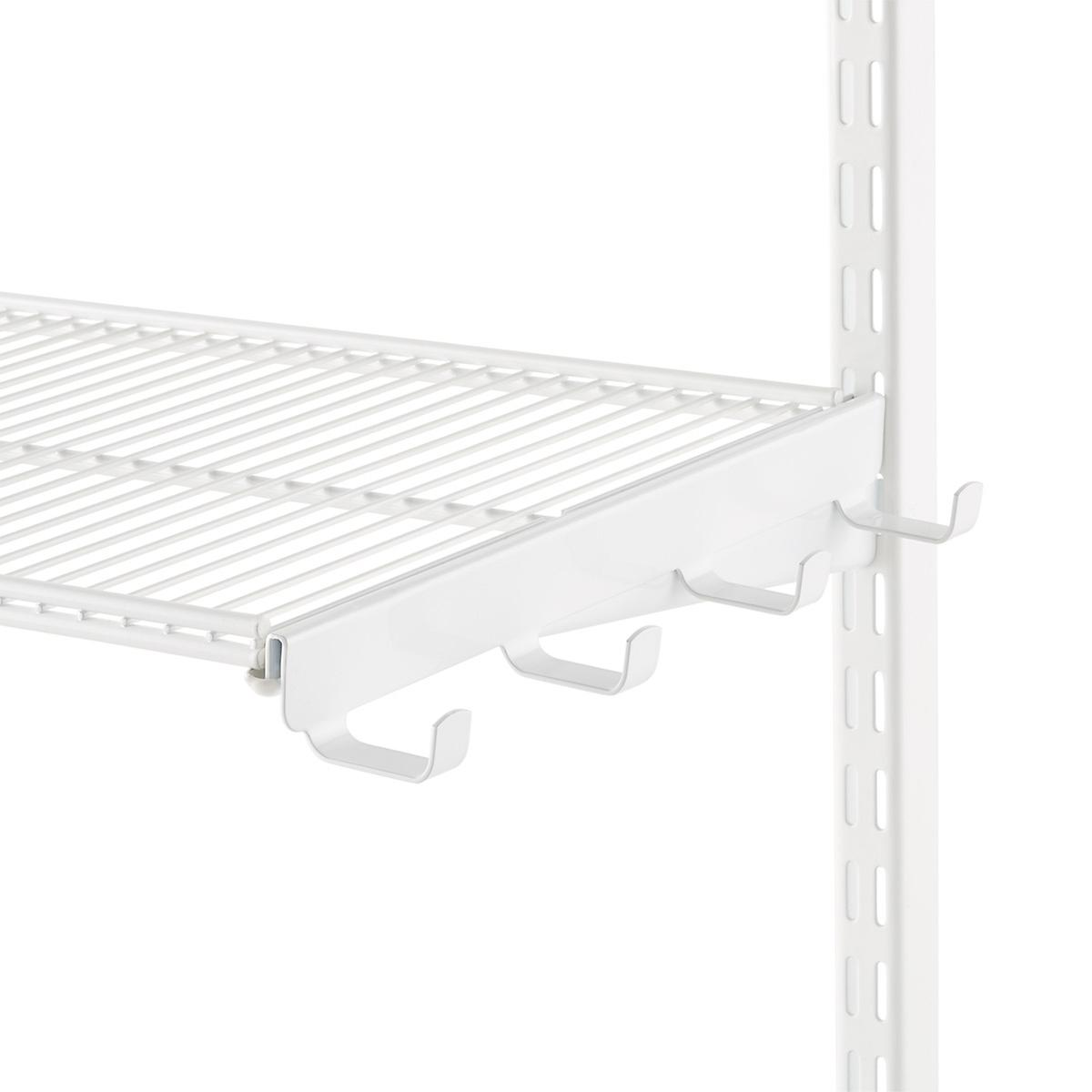 White elfa Ventilated Wire Shelf Bracket Hooks | The Container Store