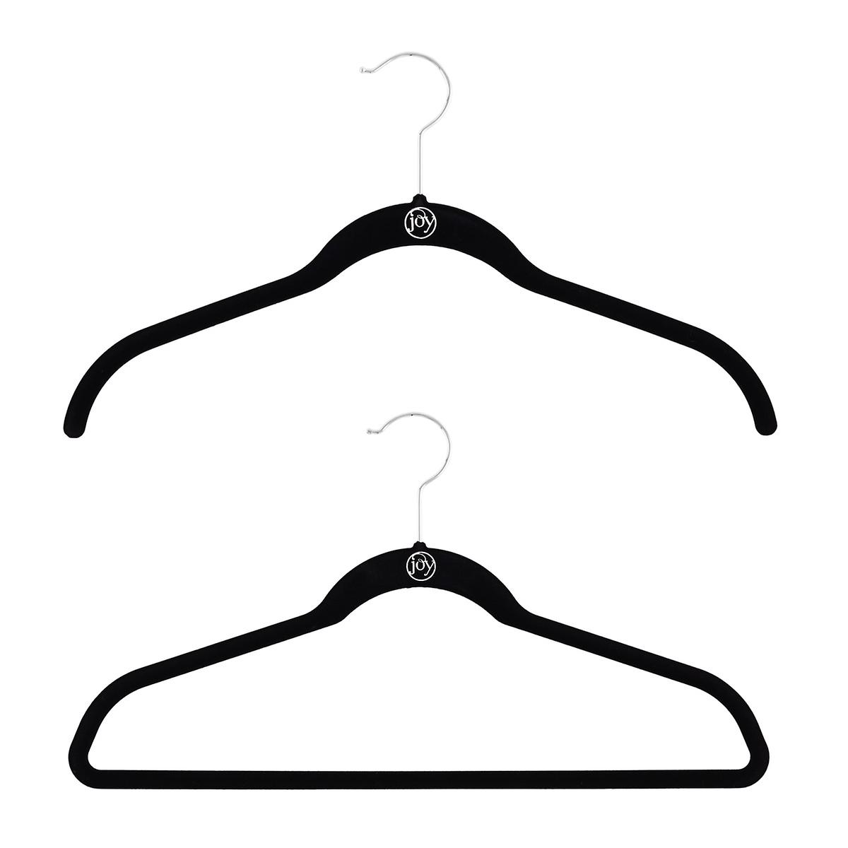 Huggable Hangers Joy Mangano Black Huggable Hangers The