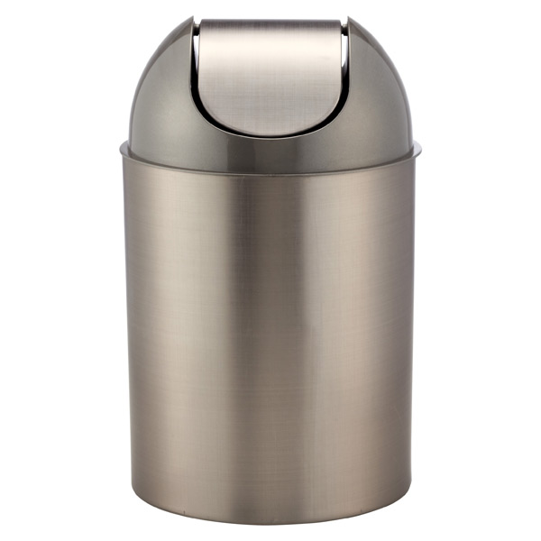 top lid the metal recycling swing trash push round cleaning n home genuine b depot joe can compressed cans chrome