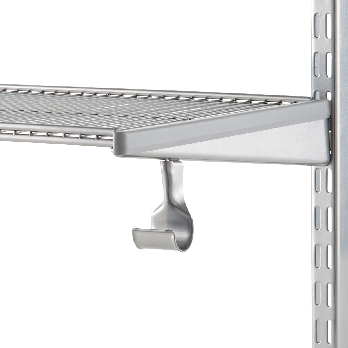 Platinum Elfa Closet Rod Holder The Container Store