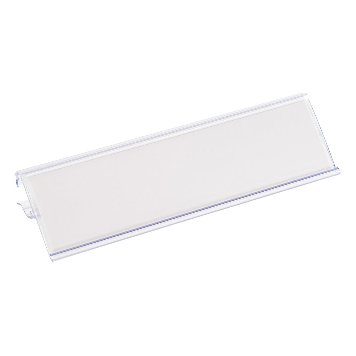 Wire Shelf Labels | Elfa Ventilated Wire Shelf Label Holders The Container Store