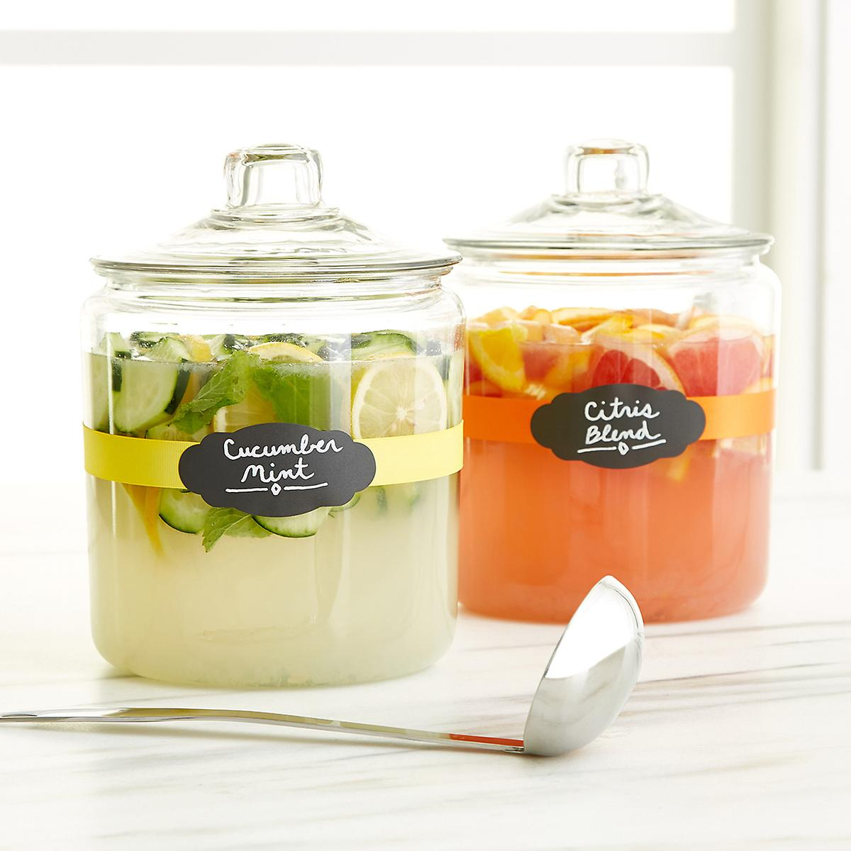 anchor hocking glass canisters with glass lids the container store anchor hocking glass canisters with glass lids