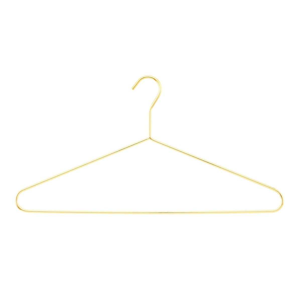 Gold Metal Hangers Pkg 4 The Container Store