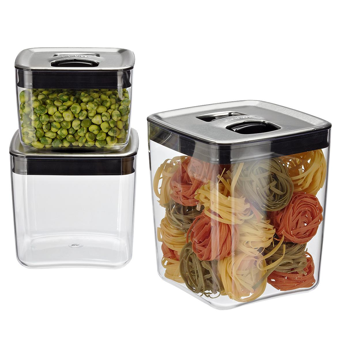 Click Clack Cubes with Stainless Lids The Container Store