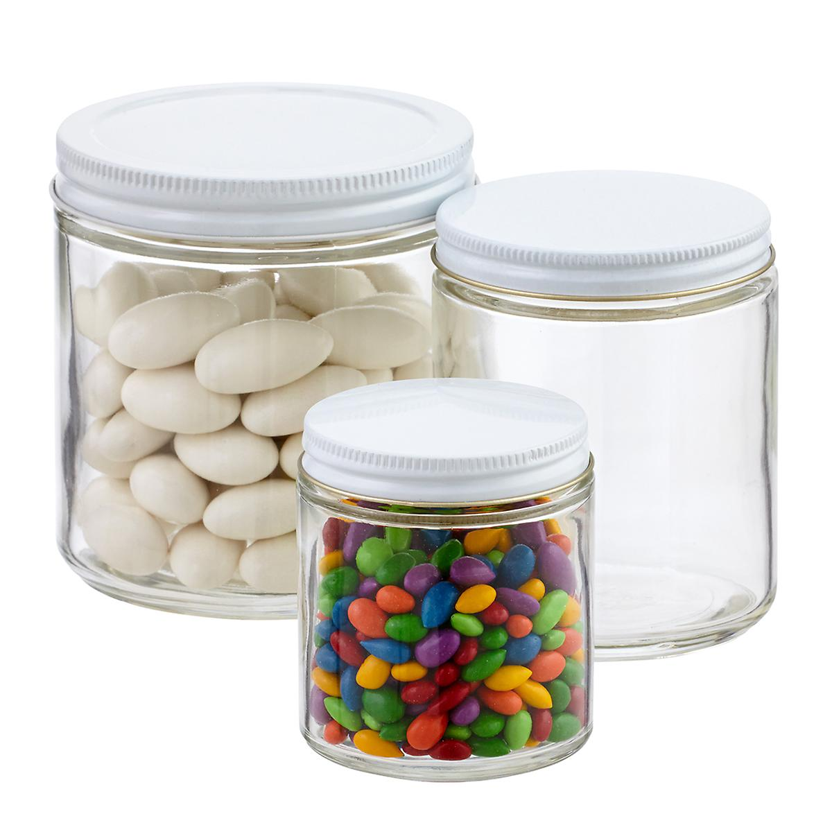 commercial straight sided glass jars the container store