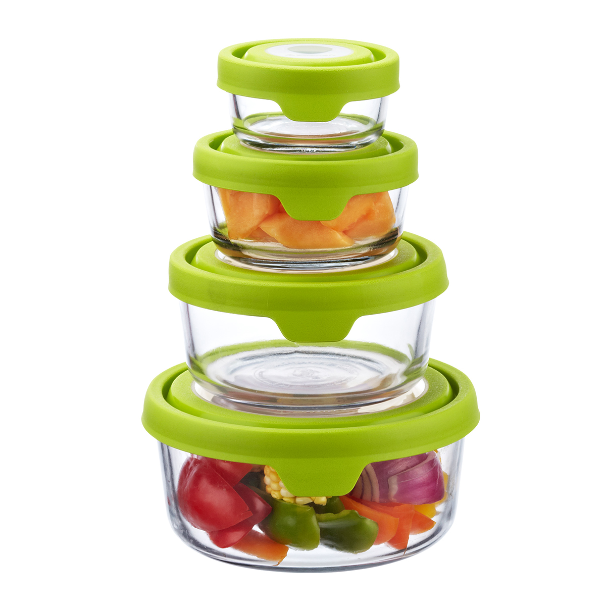 Perfect Anchor Hocking Glass TrueSeal Round Food Storage Containers ...