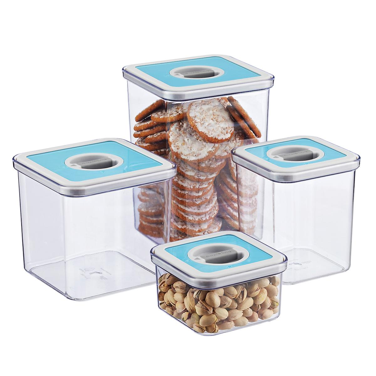 square perfect seal canisters the container store square perfect seal canisters