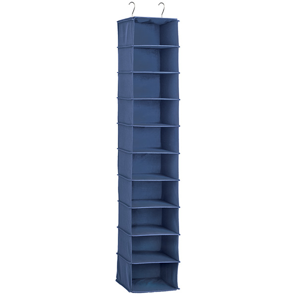Indigo 10 Compartment Hanging Shoe Organizer The Container Store