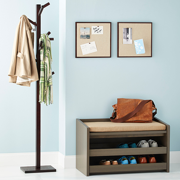 Foyer Mudroom Kits : Our mercer entryway starter kit the container store
