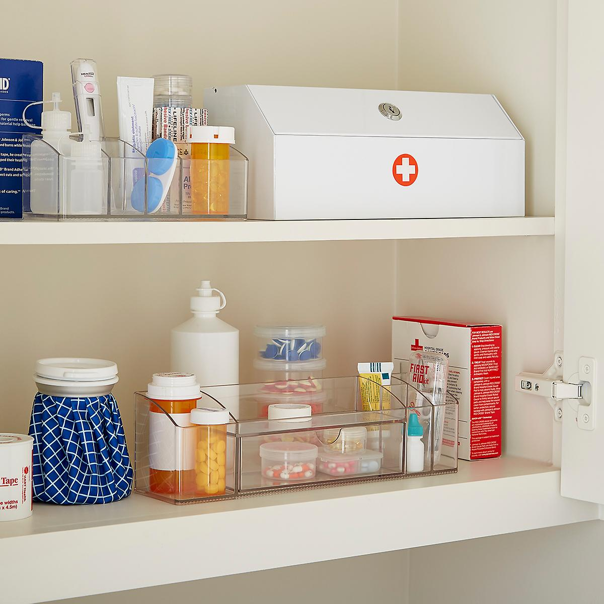 Iris 3 Section Round Medication Case The Container Store