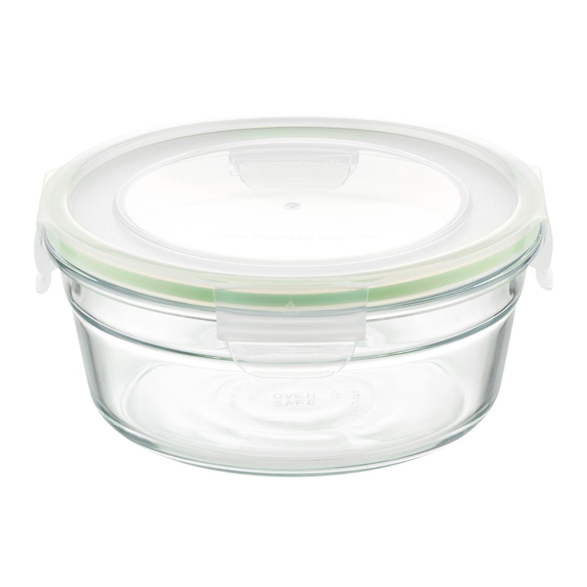 Set Of Glasslock Round Food Containers With Lids The