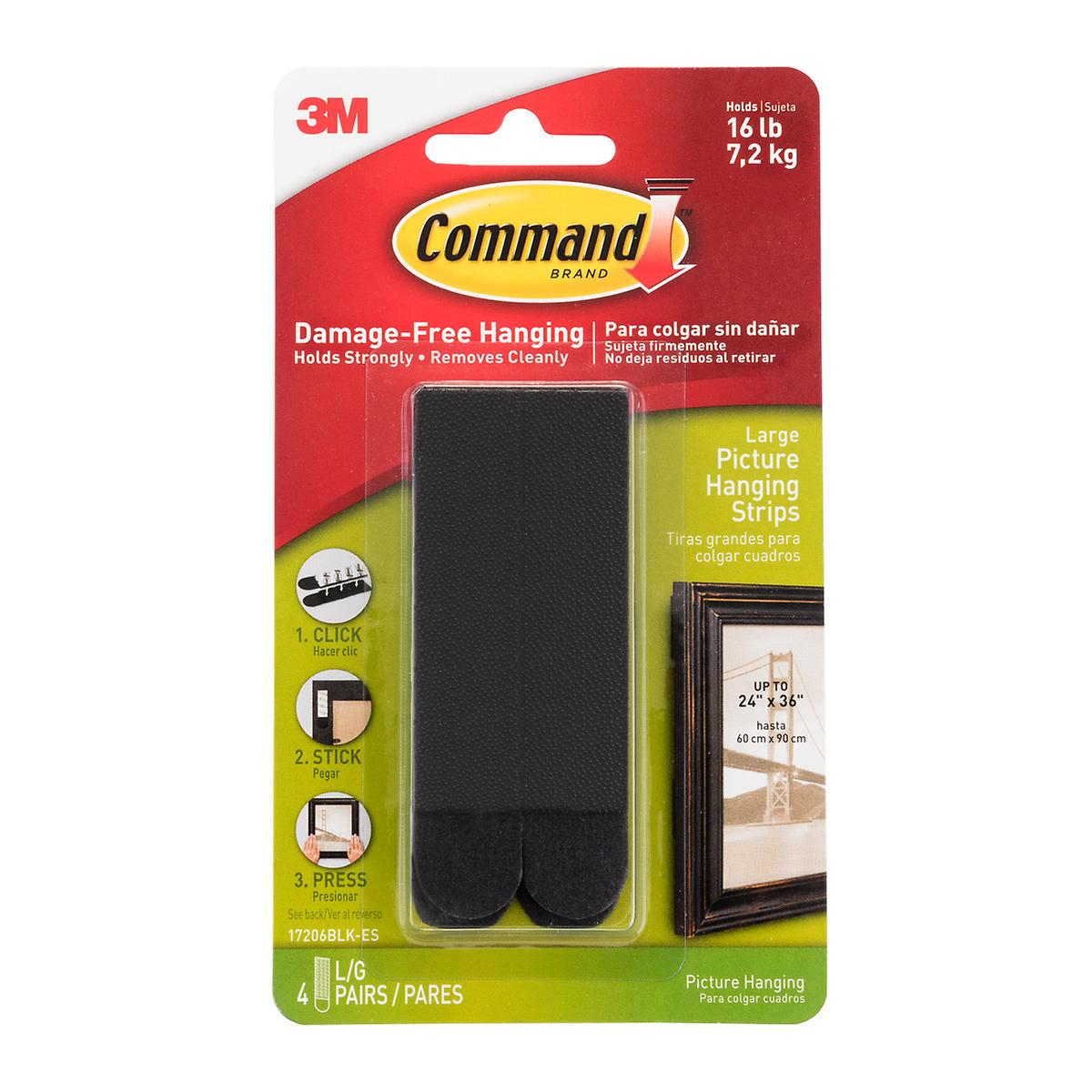 Command Adhesive Black Picture Hanging Strips ...
