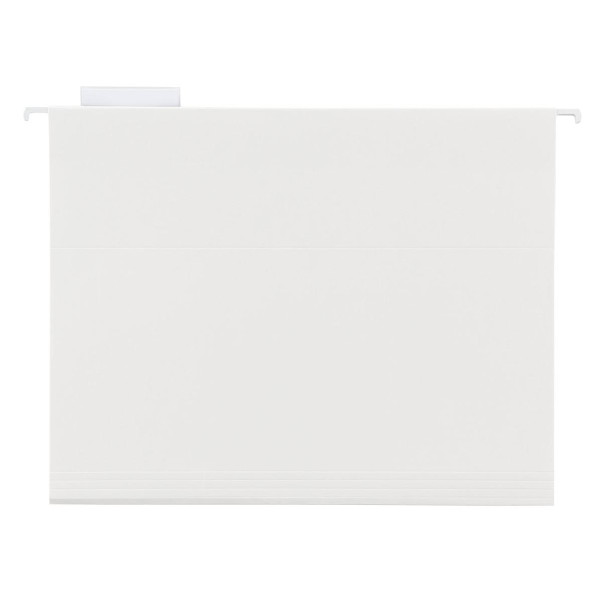 White Letter Size Hanging File Folders | The Container Store