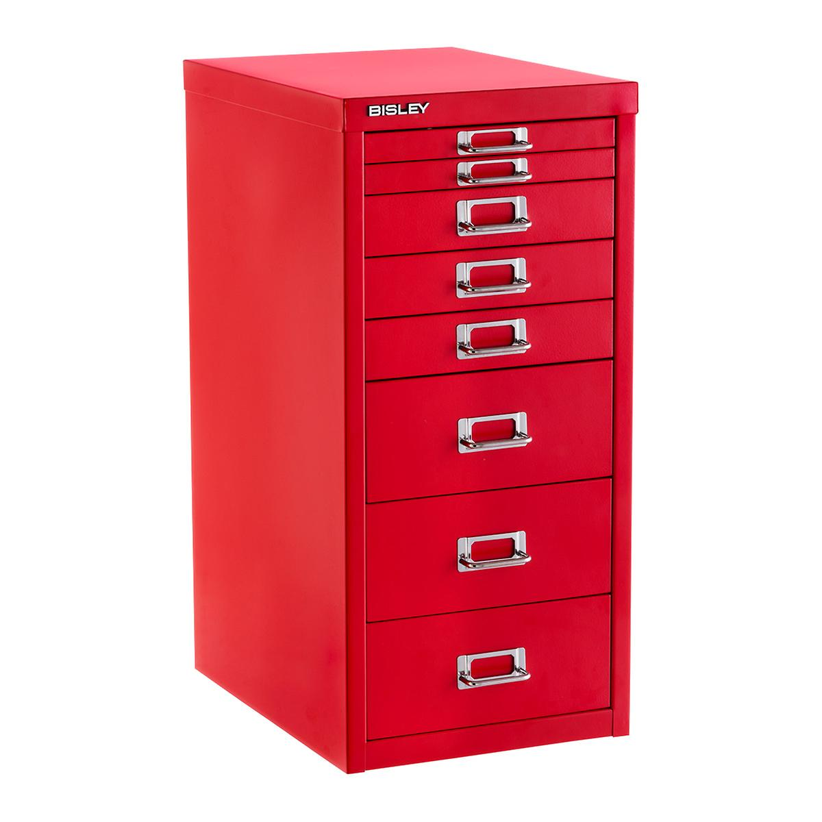 Bisley Red 8 Drawer Collection Cabinet The Container Store