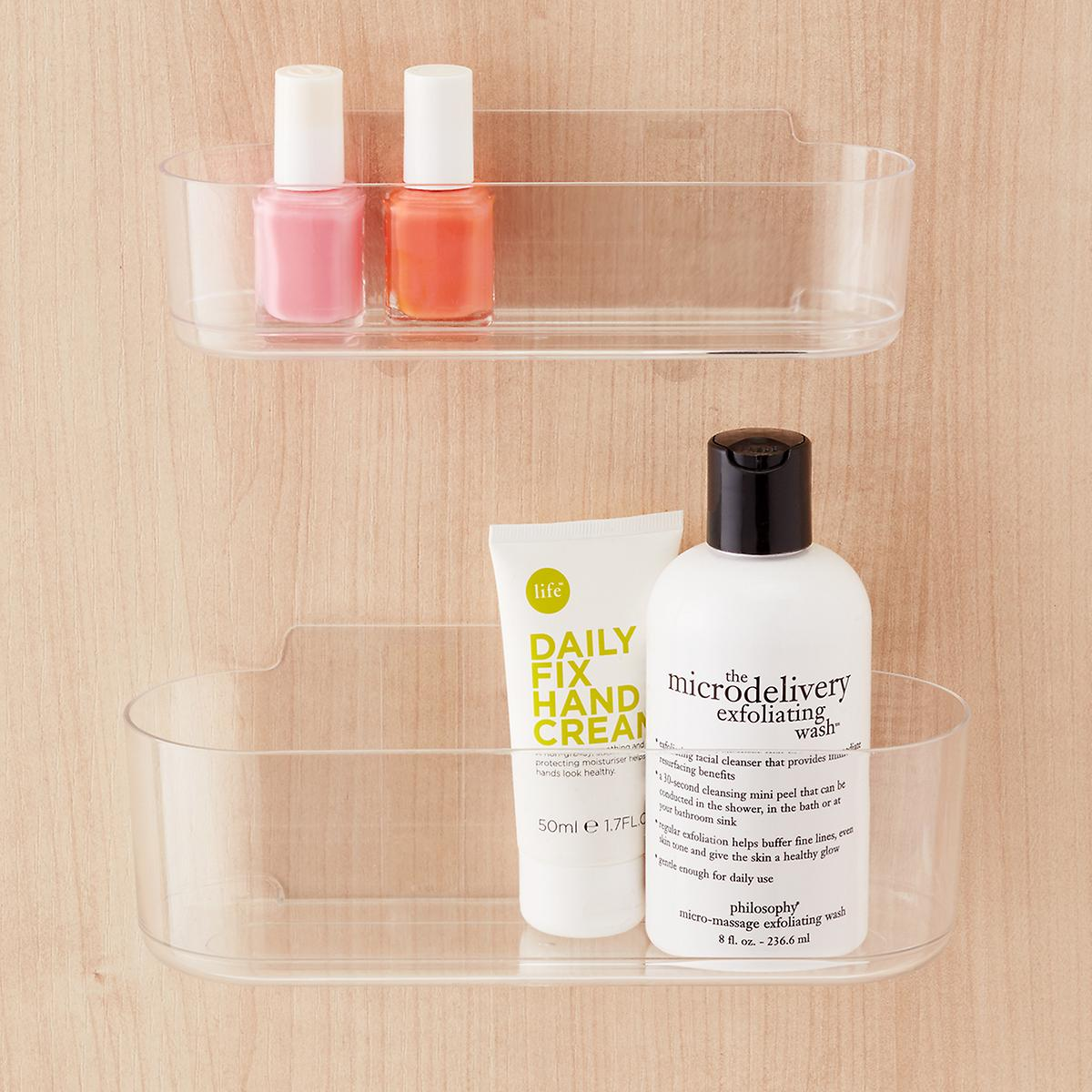 3m command clear caddies the container store for Bathroom ideas 3m x 3m