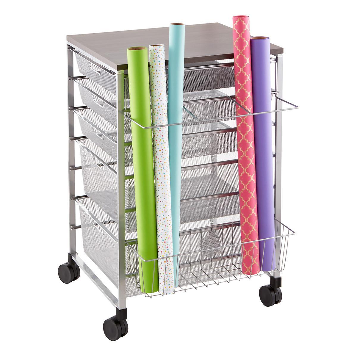 Platinum elfa Gift Wrap Organizer The Container Store