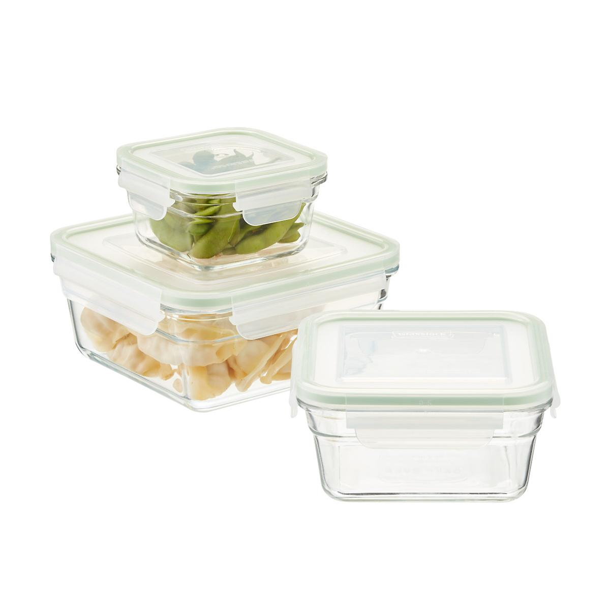 Glasslock Square Food Containers with Lids ...