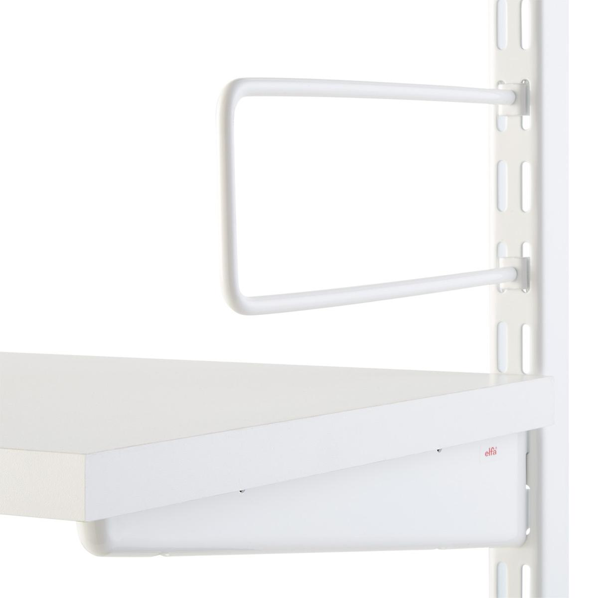White elfa Clip Bookends | The Container Store