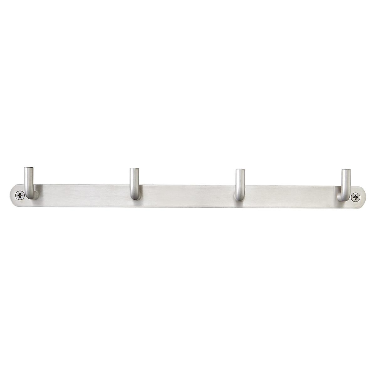 stainless steel deco hook racks  the container store - stainless steel wall hooks