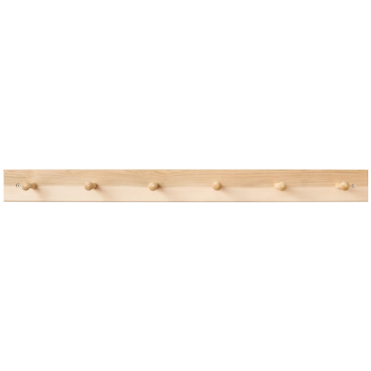 1 x 4 BRASS HOOKS PINE WALL Hat /& Coat HANGER  Door Peg Wooden  hanging hooks