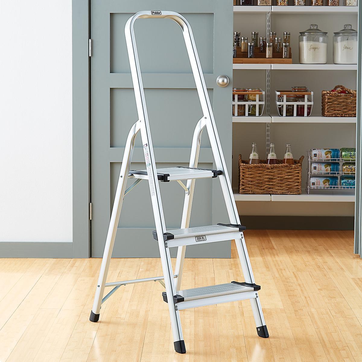 Super Polder 3 5 Step Aluminum Folding Ladders Machost Co Dining Chair Design Ideas Machostcouk