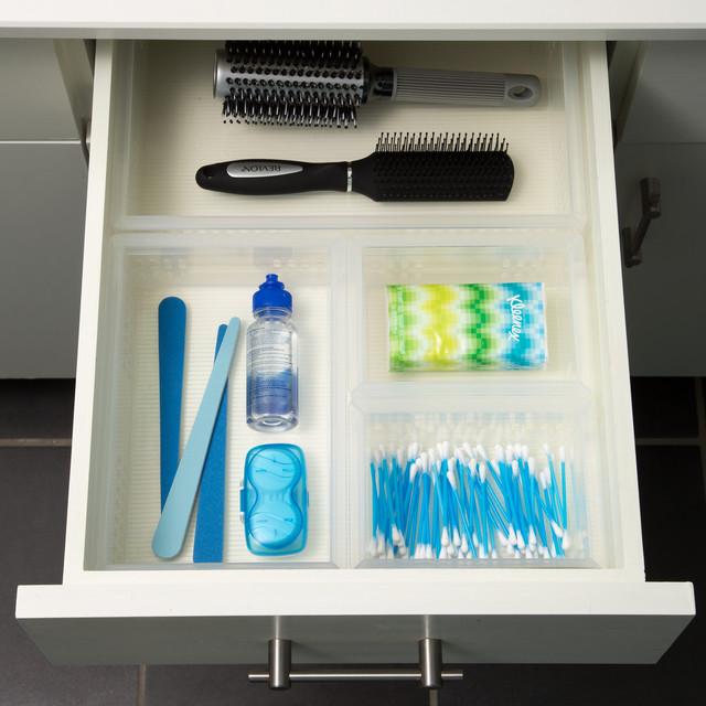 Clear Bathroom Stackable Drawer, Organizing Bathroom Drawers