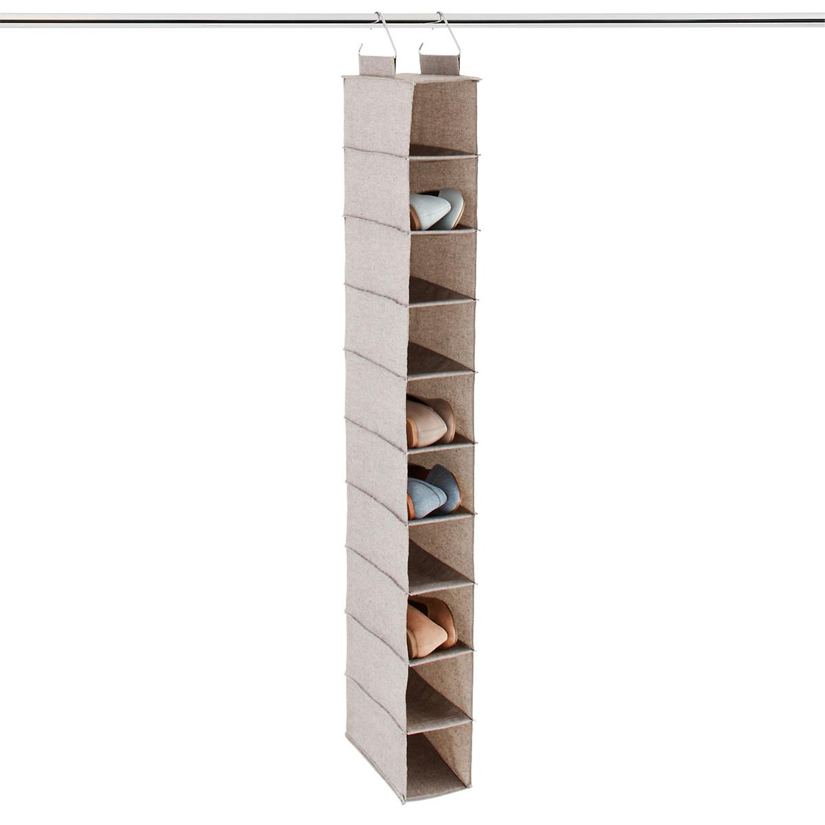 10 Compartment Hanging Shoe Organizer