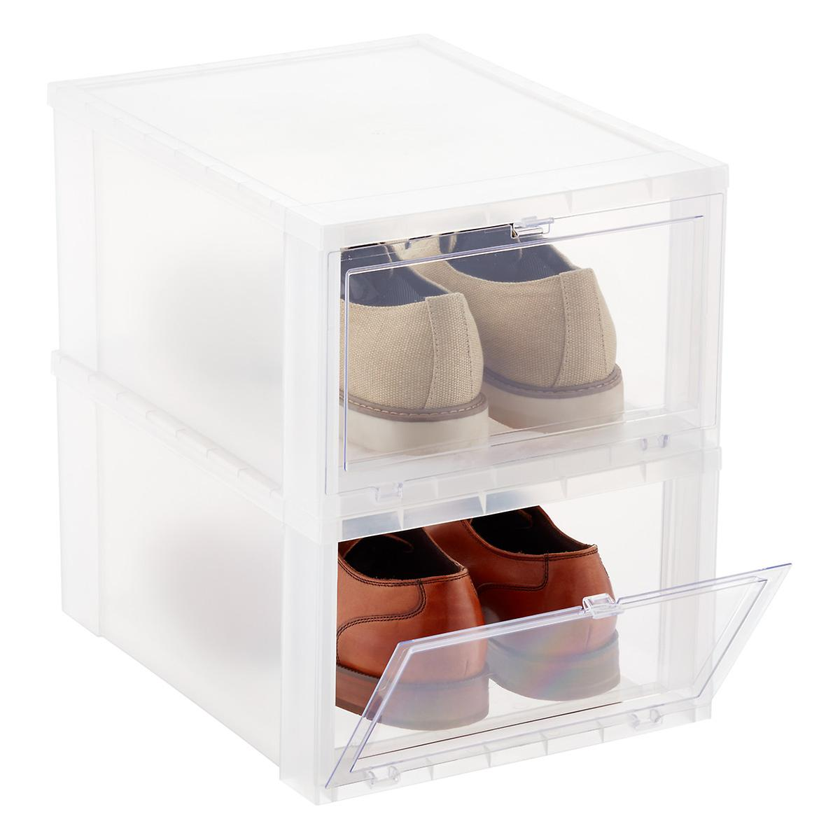 Roll over to zoom  sc 1 st  The Container Store & Menu0027s Drop-Front Shoe Box | The Container Store
