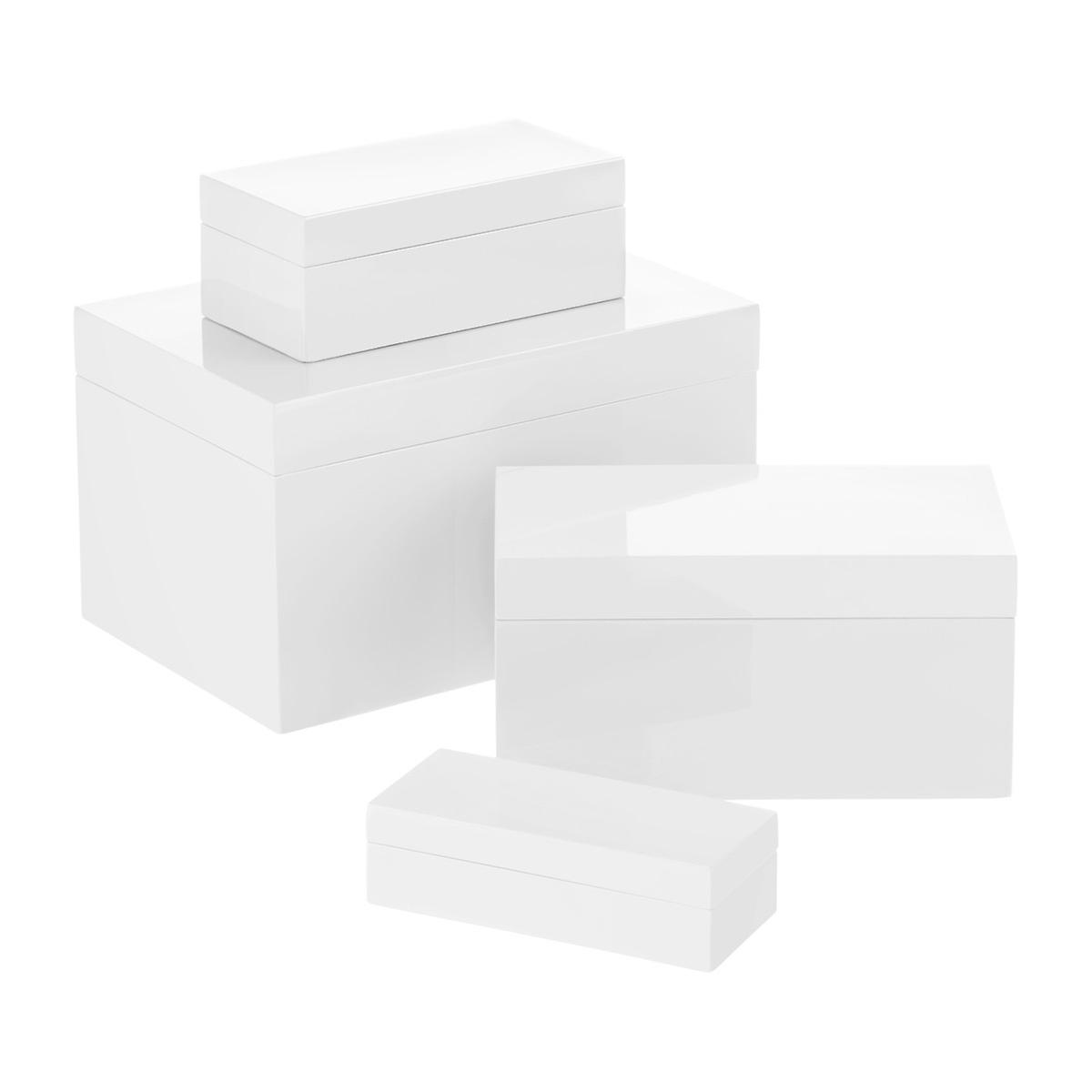 0cd29e745 White Lacquered Storage Boxes | The Container Store