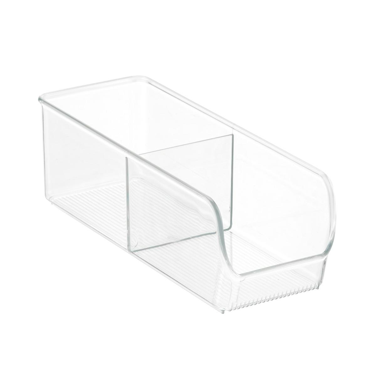 Interdesign linus 2 section divided cabinet organizer for Kitchen cabinet section