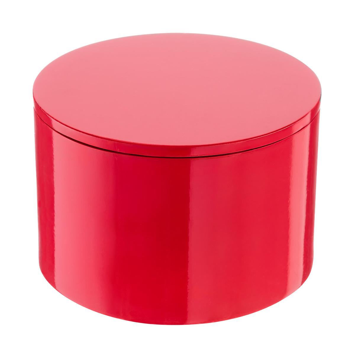 Red Round Lacquered Box The Container Store