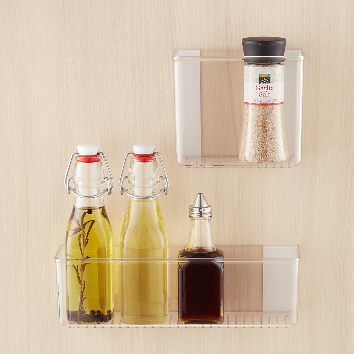 Interdesign Affixx Adhesive Organizer Bins The Container Store