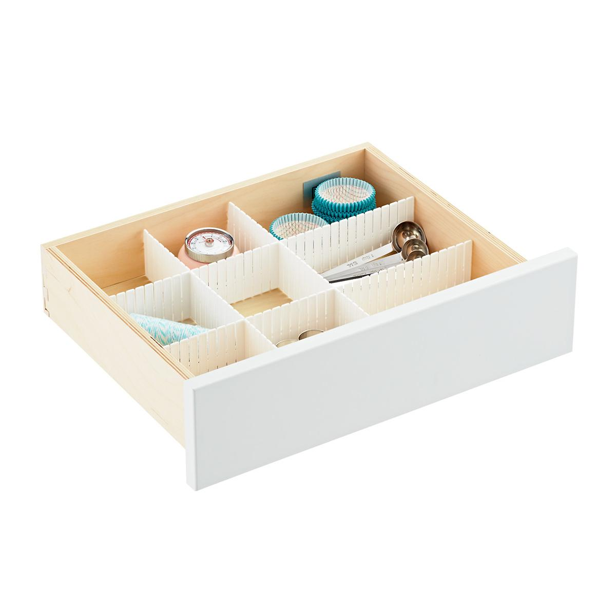 Slotted Interlocking Drawer Organizers The Container Store