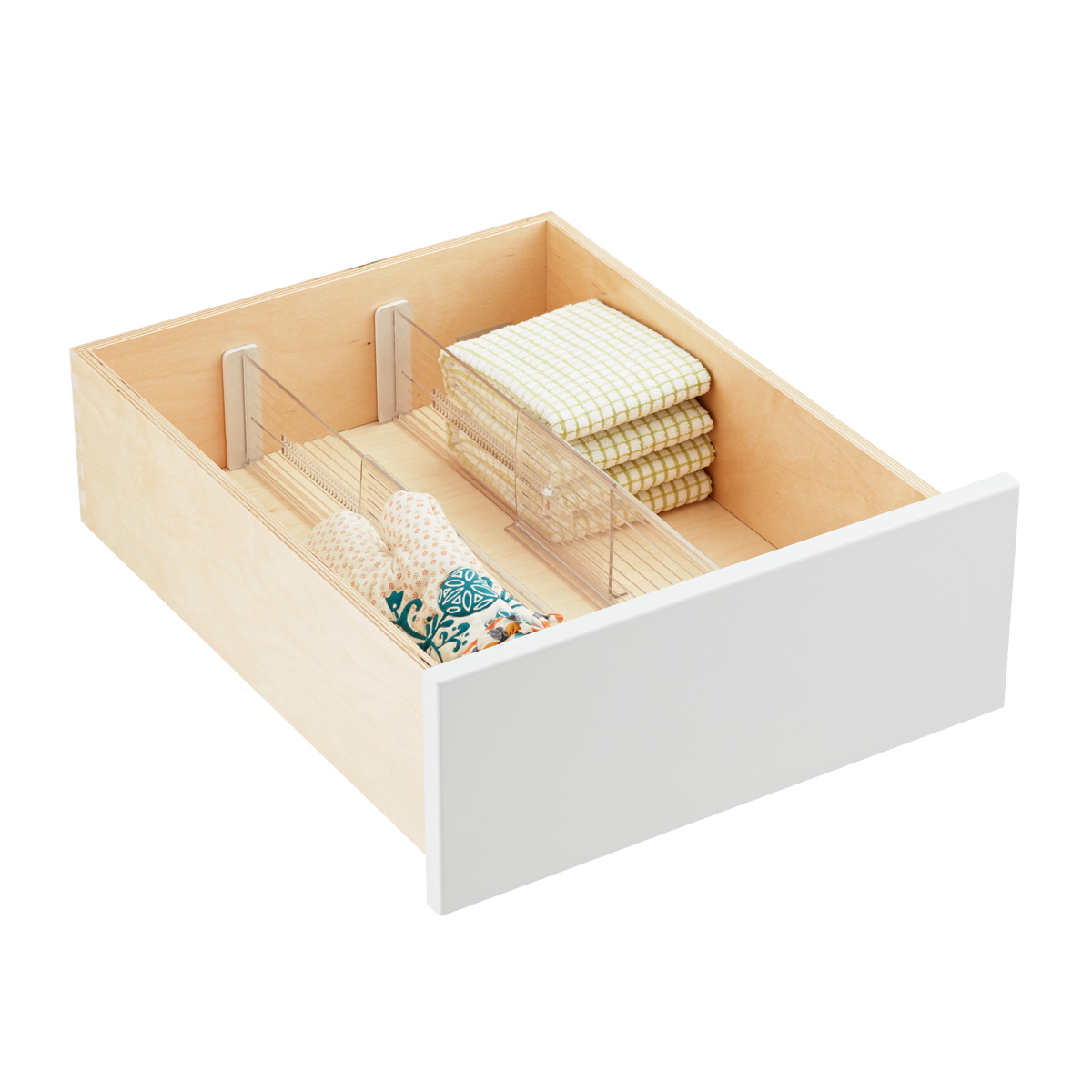 4 Expandable Drawer Dividers The Container Store