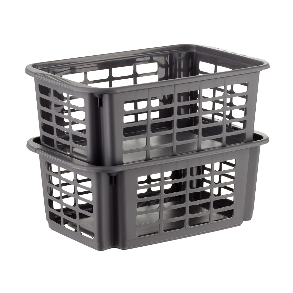 Natural Stackable Deep Closet Storage Drawers Plastic