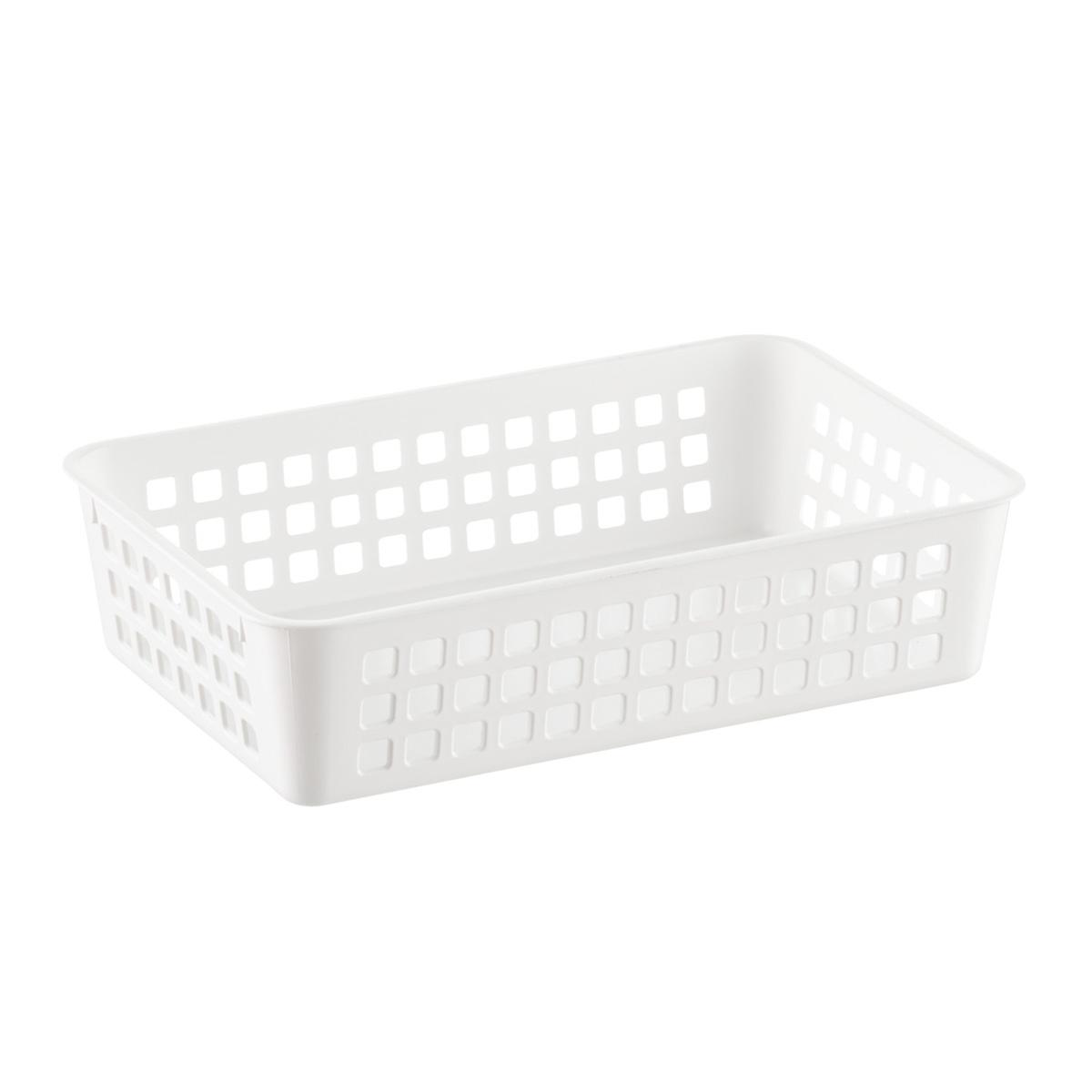 White Multipurpose Plastic Storage Baskets The Container