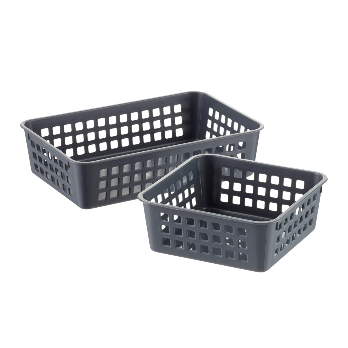 Grey Multipurpose Plastic Storage Baskets ...