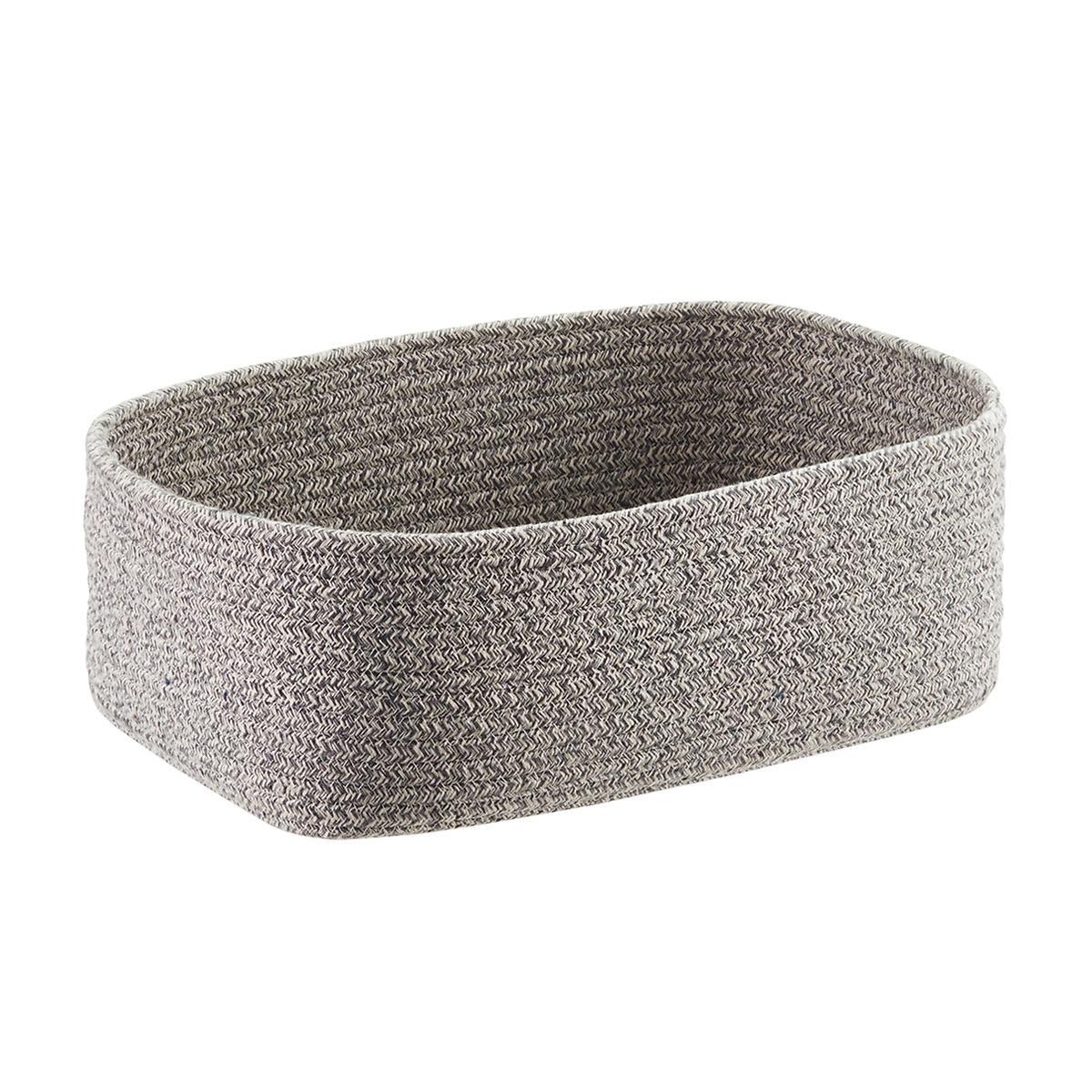 Grey Laguna Cotton Fabric Storage Bins