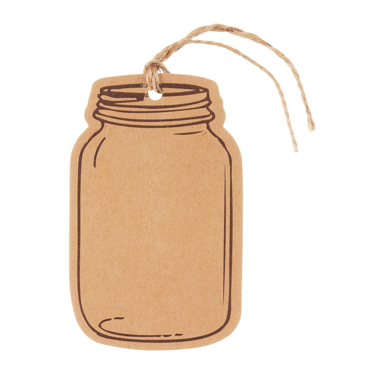 Kraft mason jar gift tags the container store kraft mason jar gift tags negle Images