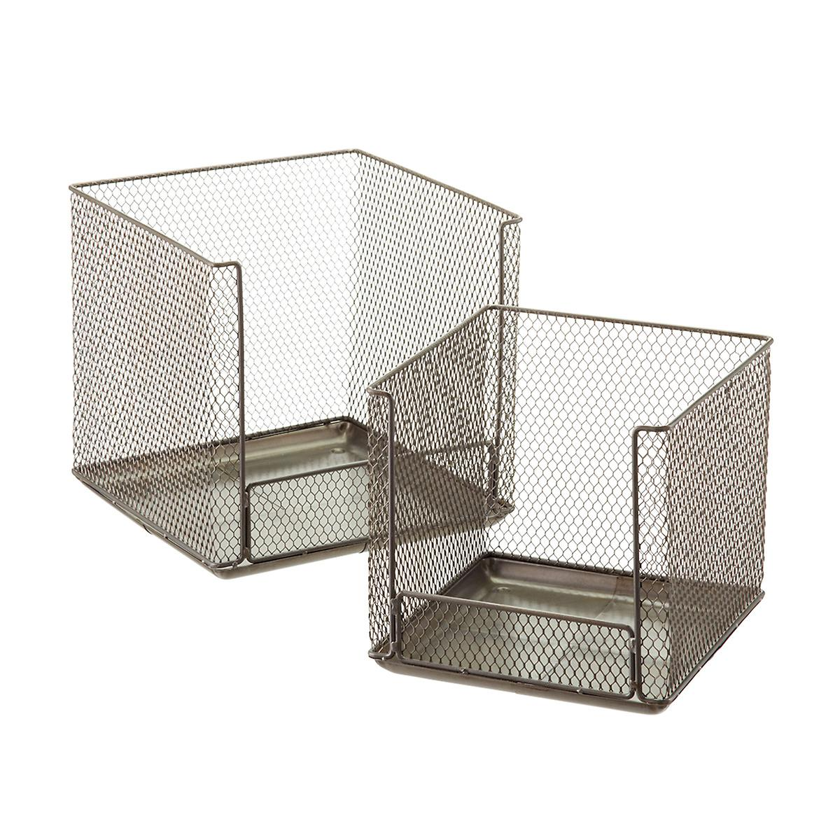 Design Ideas Open Front Stackable Wire Storage Cubes The Container