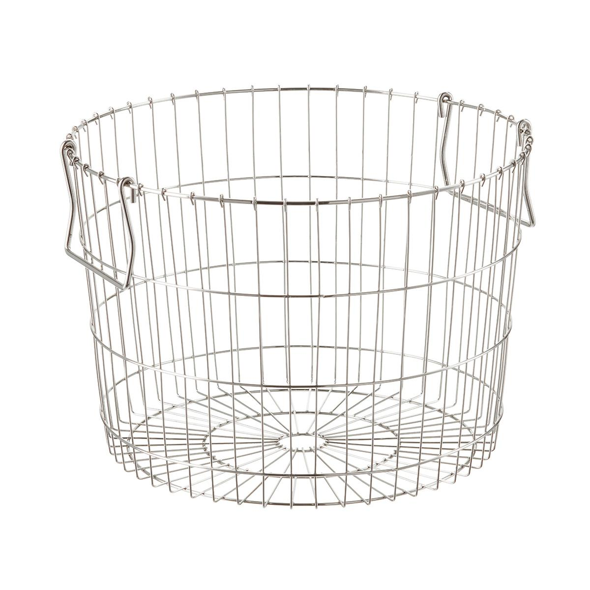 Round Silver Wire Storage Basket | The Container Store