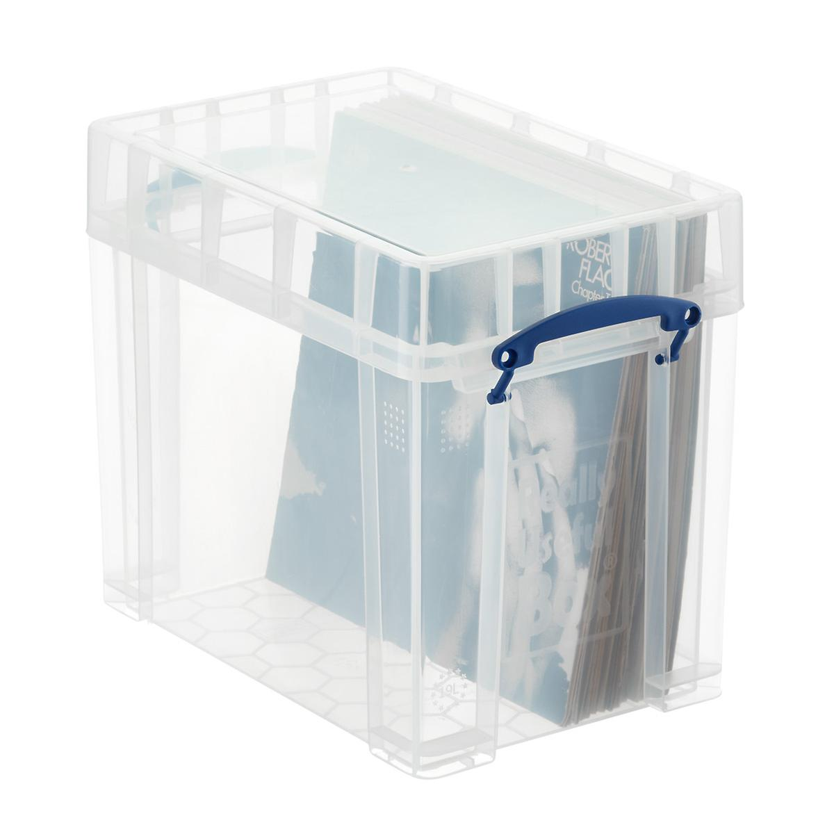 Really Useful Boxes Small Stackable Vinyl Record Storage Box The