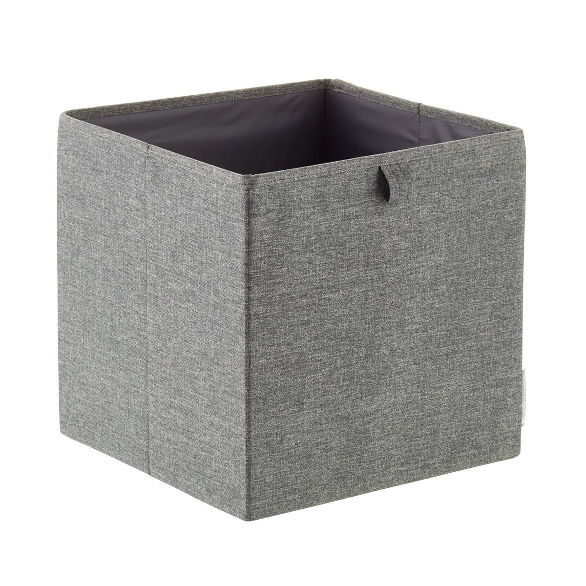 Bon Bigso Grey Fabric Storage Cube ...