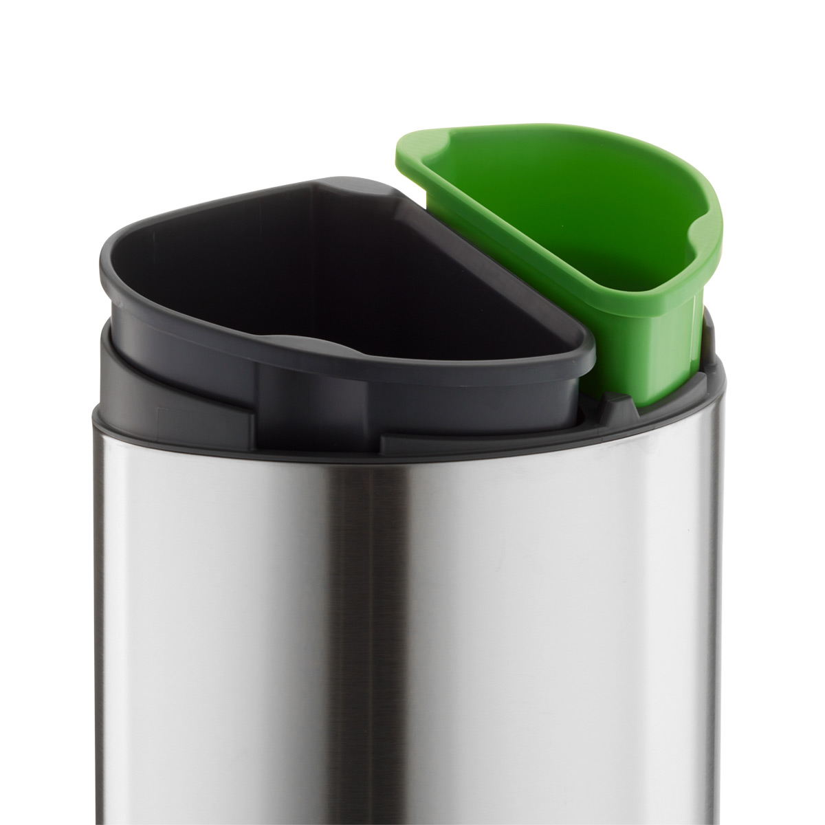 Brabantia Stainless Steel 86 gal33L TouchTop Dual Recycle Bin